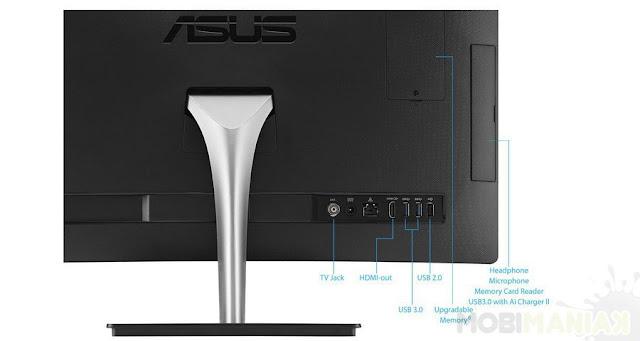 расположение портов у Asus Vivo AiO V220IBUK