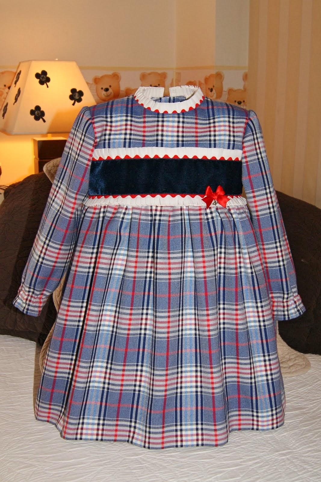 Vestido cuadros escoceses azules