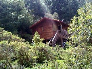 Cabaña en la Presa