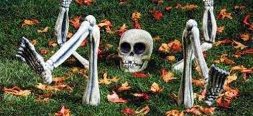 esqueleto para adornar en halloween