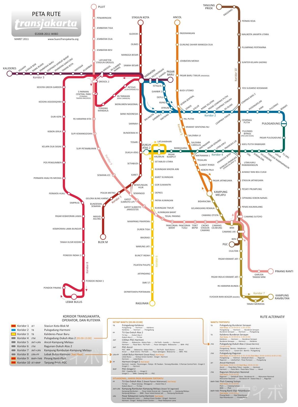 Blogger Newbie Peta Rute Transjakarta Busway Koridor 1 Sampai 10