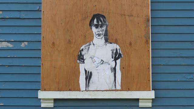 Pigeon,Bangor,Hammond_Street,Street_Art,artist,woman