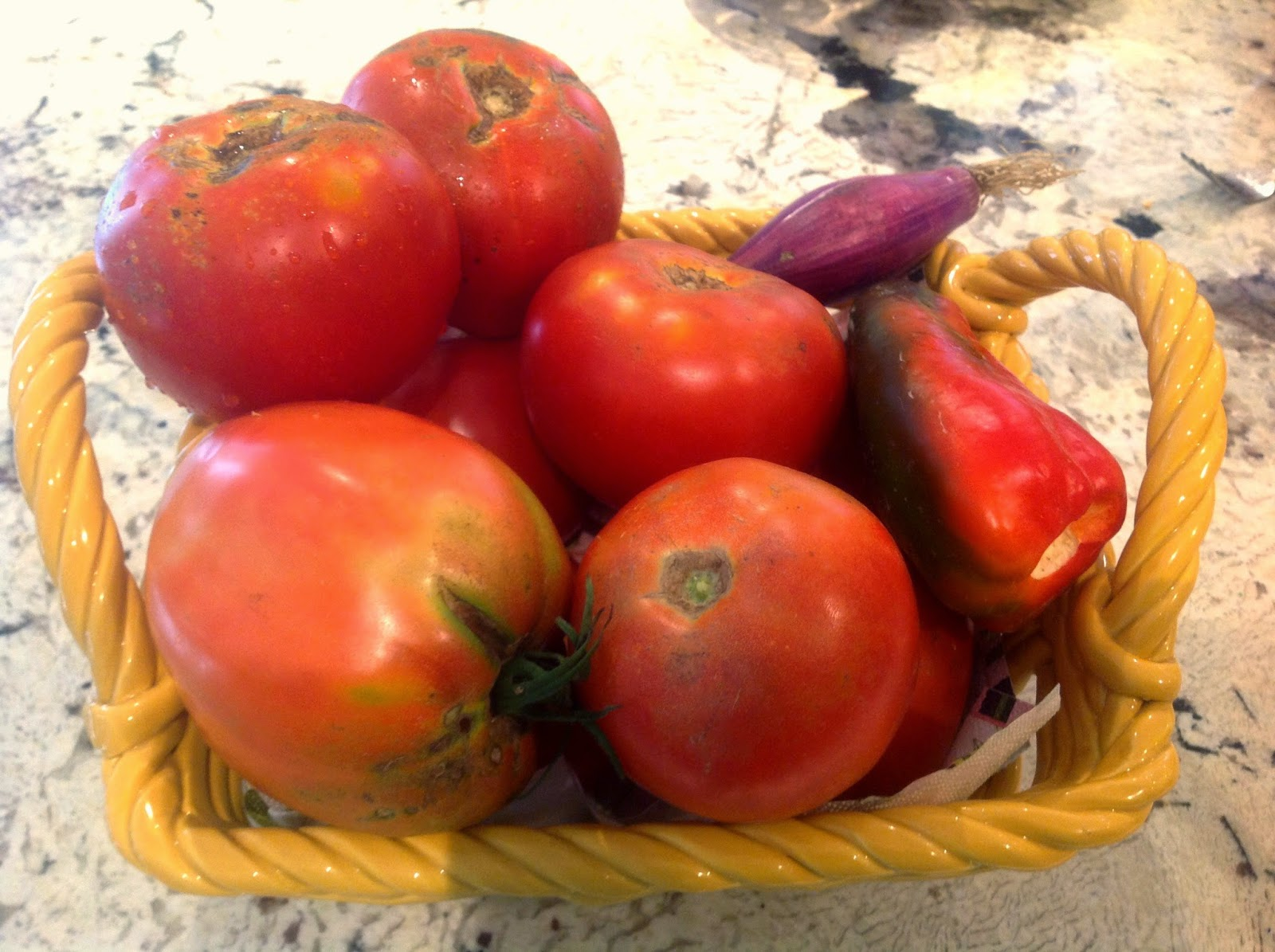 summer tomatoes in a bowl