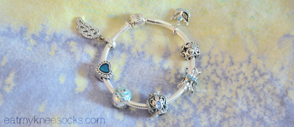 More photos of the Soufeel charm bracelet, similar to Pandora charm bracelets.