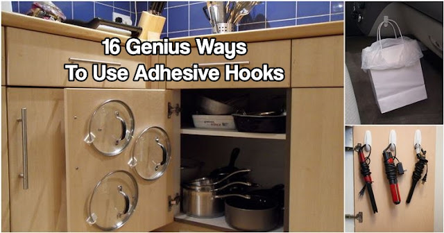 16 Genius Ways To Use Adhesive Hooks