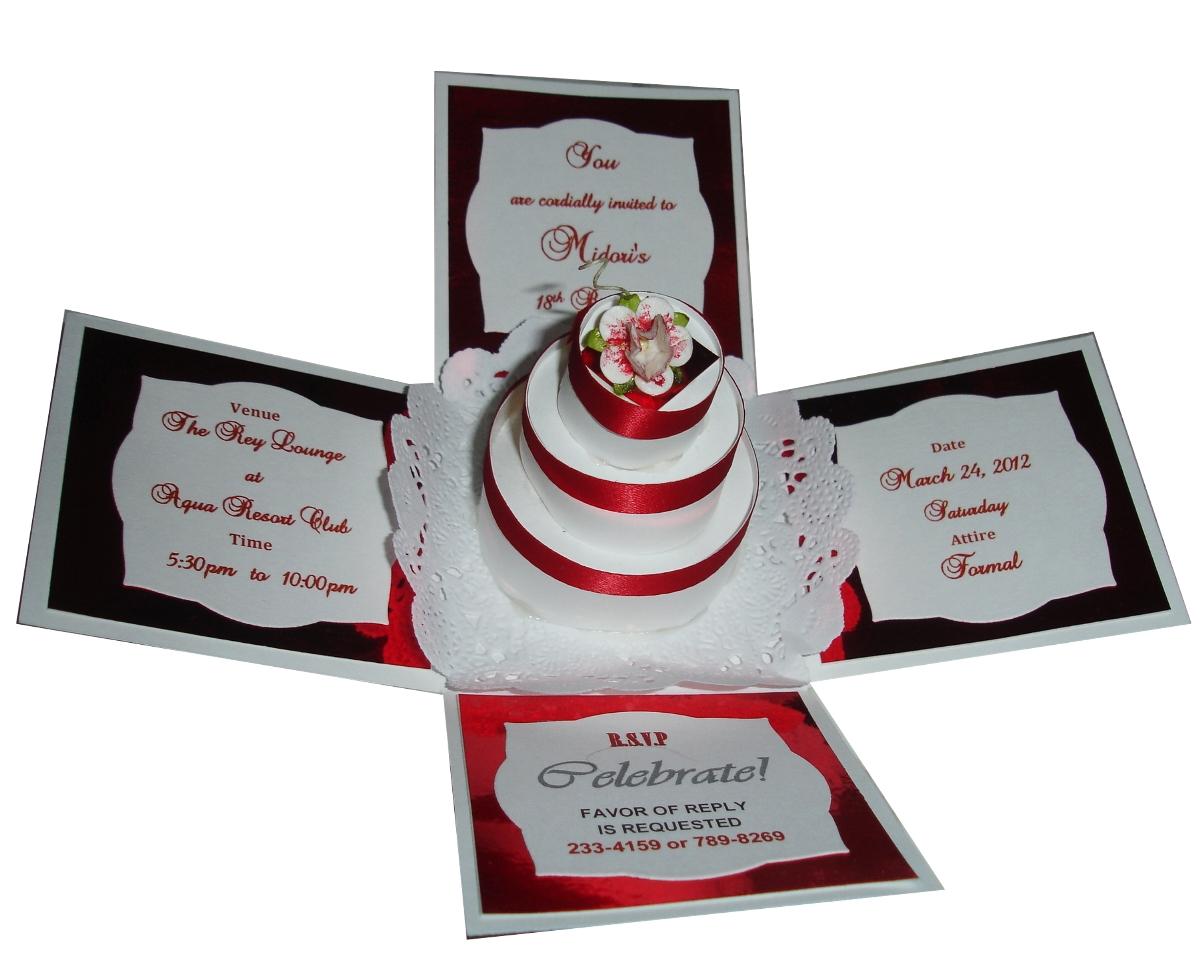 Jinkys Crafts Designs Wedding Th Birthday Exploding Box - How to make a pop up birthday invitation