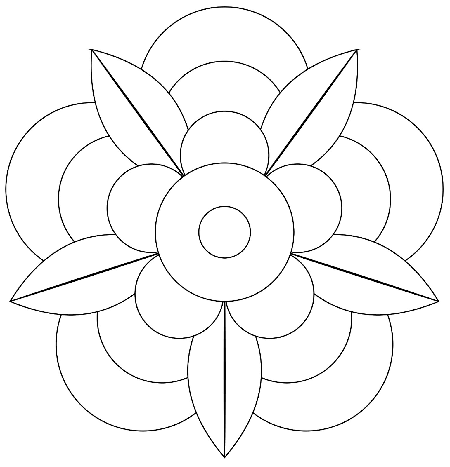 How To Draw Mandala Rose