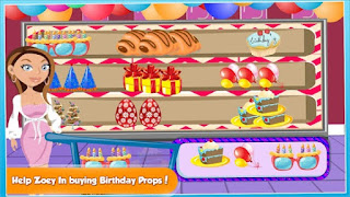 Screenshots of the Supermarket Girl Birthday Bash for Android tablet, phone.