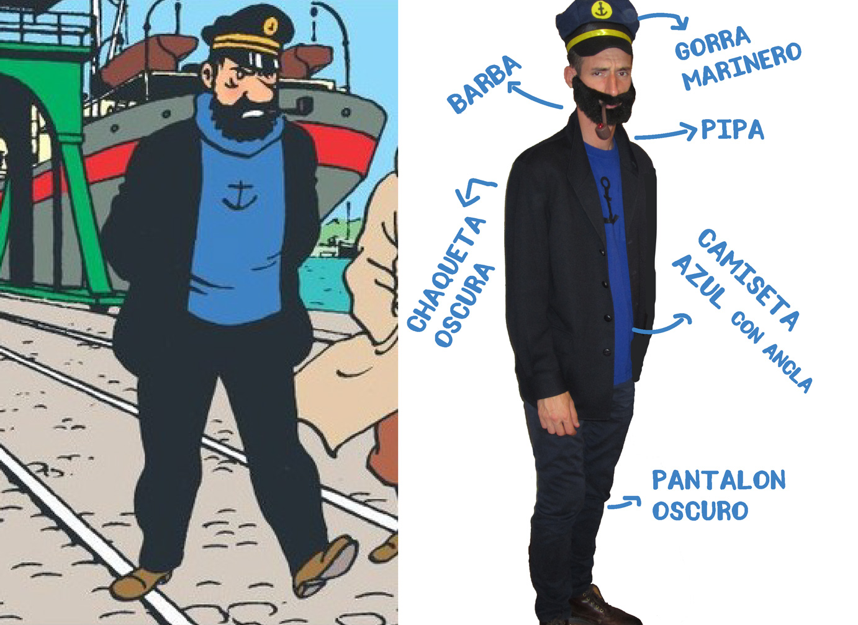 Disfraz de comic Tintin Capitan Haddock