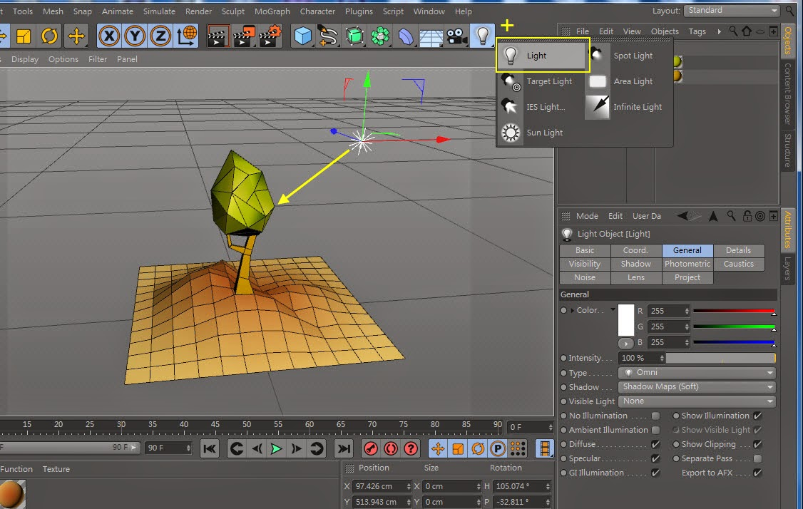 Low-Poly & GI Baking in Cinema 4D 10