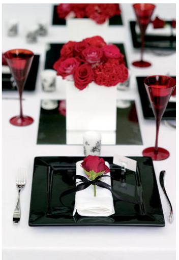 Decora O Casamento Vermelho E Preto
