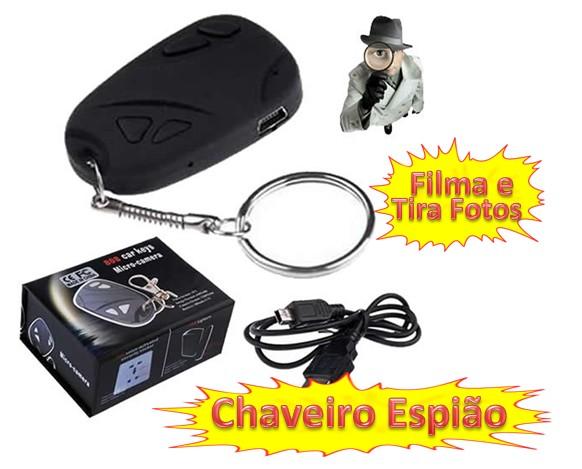 CHAVEIRO ESPIÃO, FILMA E TIRA FOTOS