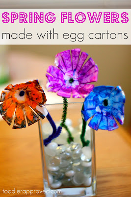 Toddler Approved!: Spring Flowers {made with egg cartons}