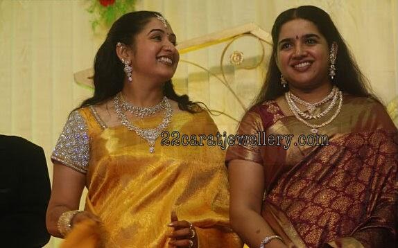 Tamil Celebrities Arun Vijay Sisters In Diamond