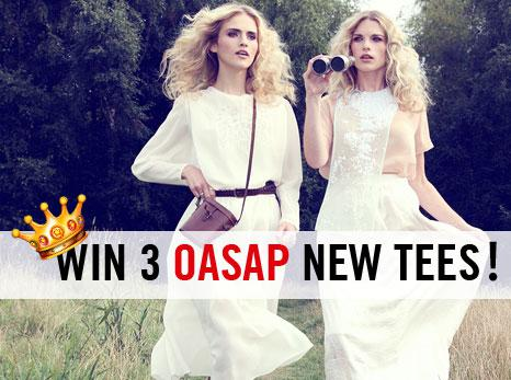 win 3 oasap new tees, yes, you heard me right, 3 pieces!