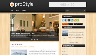 prostyle ads ready blogger template Top 10 Ads Ready Blogger Templates to Maximize CTR