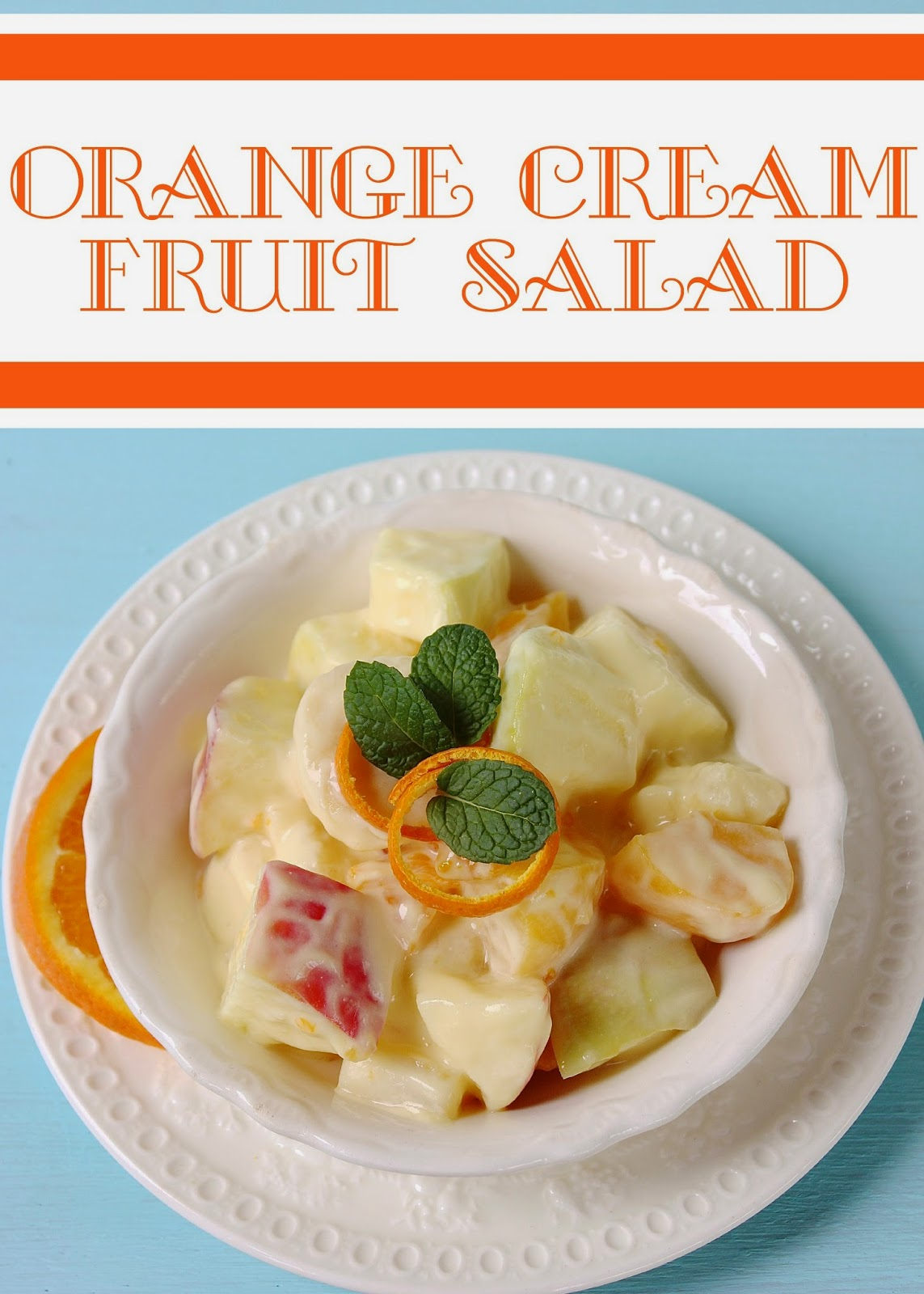 Fruit Salad with Citrus Cream Sauce