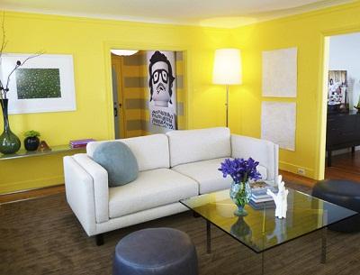 ديكورات غرف جلوس 2013، غرف جلوس باللون الأصفر 2013