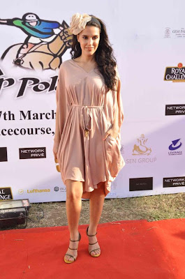 neha dhupia at 3rd asia polo match 2012 cute stills