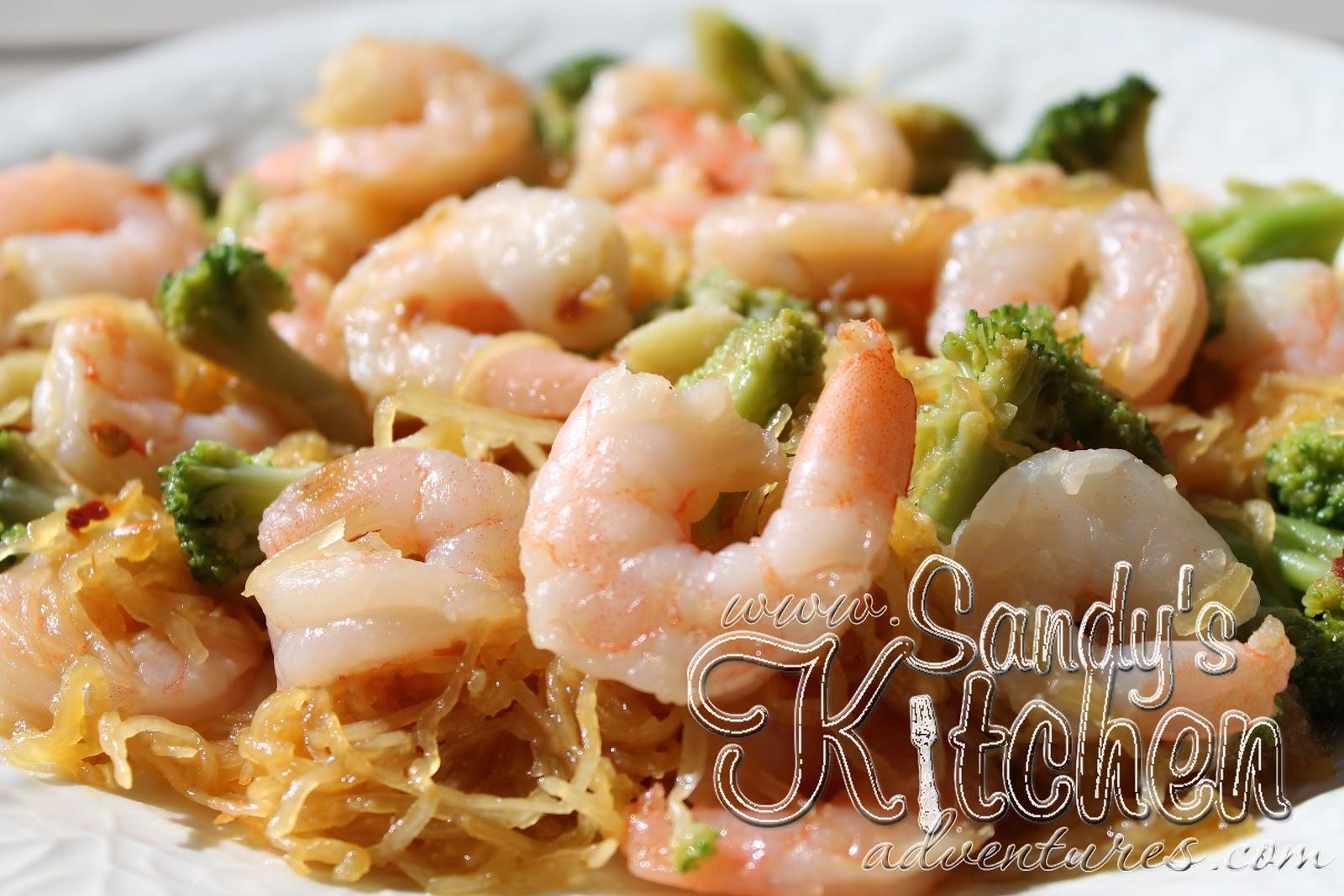 Shrimp Lo Mein with Spaghetti Squash | Sandy\'s Kitchen