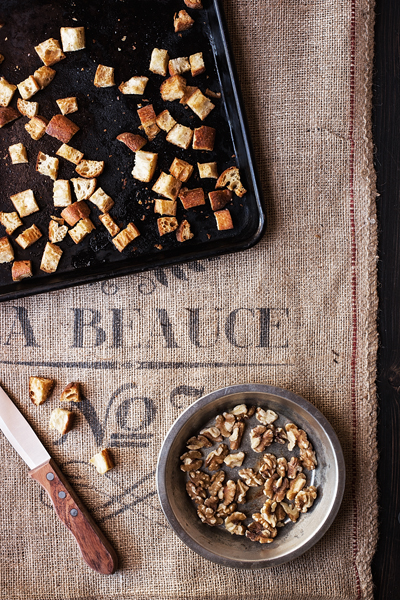 Croutons and Walnuts