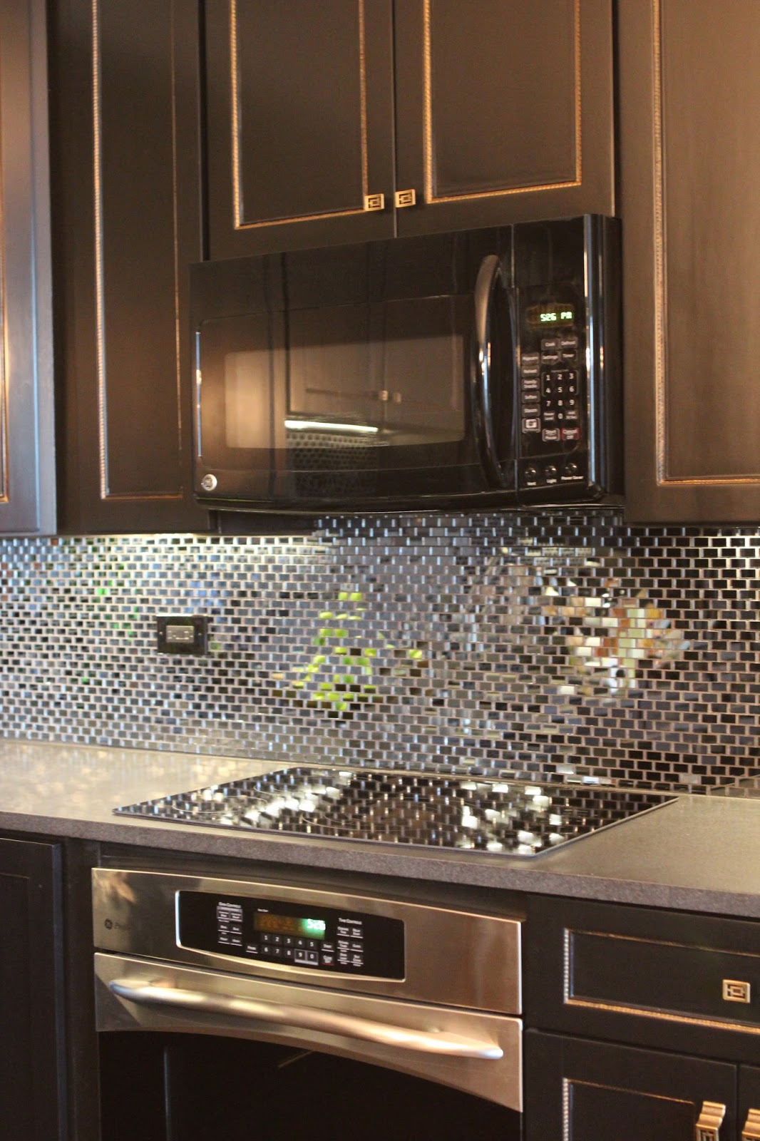 Mirror Backsplash In Kitchen Romancing The Home Glam Kitchen In The City
