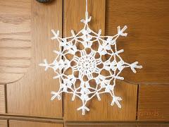 Horgolt karácsonyi ablakdíszek válogatás