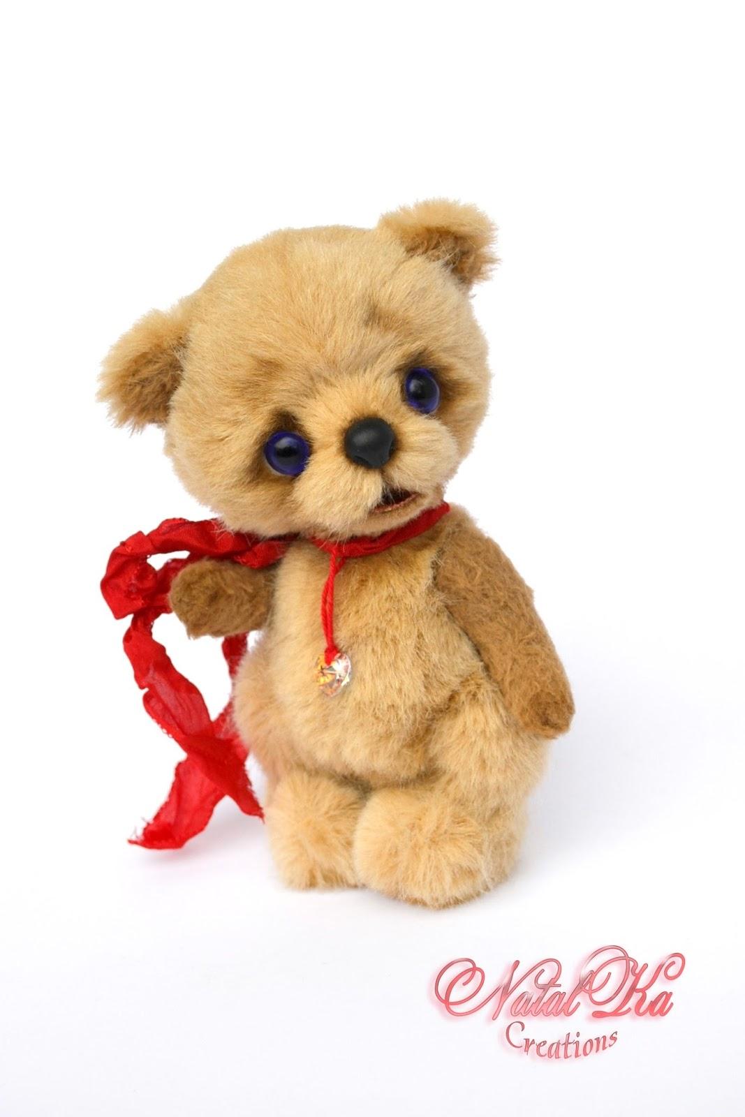 Artist teddy bear, teddy bear jointed, teddies with charm, handmade teddy bear, ooak, Künstlerteddy, Teddybär, Teddy, Bär, Unikat, авторский мишка тедди, медвежонок тедди, медведь тедди, мишки тедди, ручная работа от NatalKa Creations