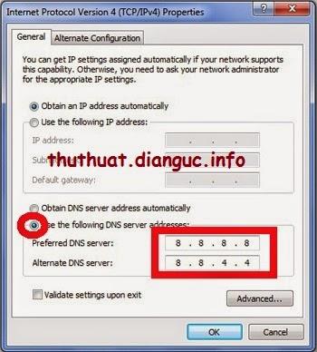 Đổi DNS Google cho Win 7 và Win 8 như thế nào?