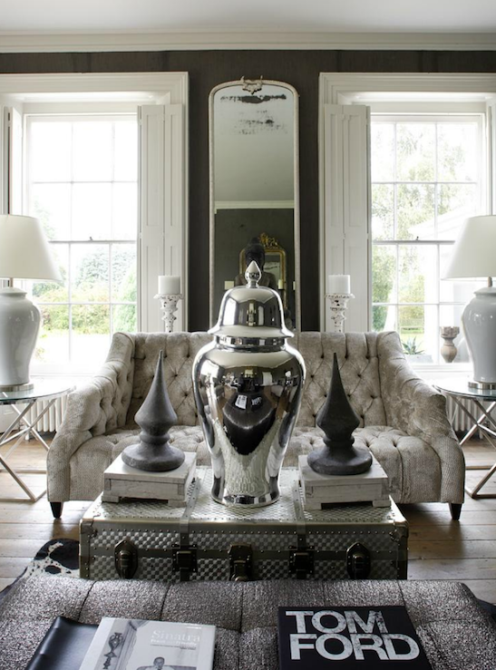 Luxe living space in taupe, white and grey : T a n y e s h a