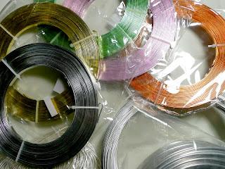 piattine in alluminio, gioielli wire
