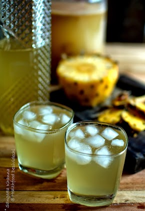 Fermented drinks and condiments : Pineapple kanji : a kanji made with pineapple peels....