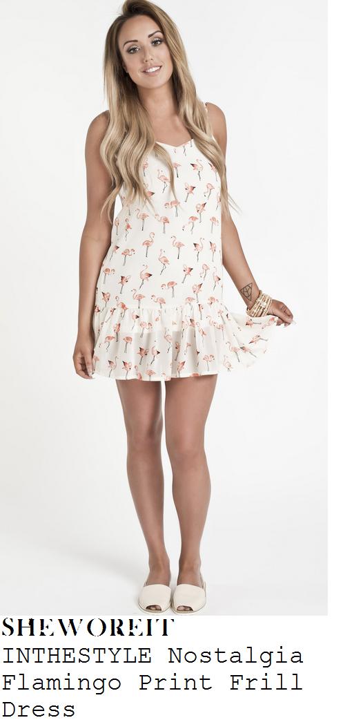 charlotte-crosby-white-flamingo-mini-dress