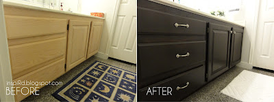 inspird staining bathroom cabinets my first diy project
