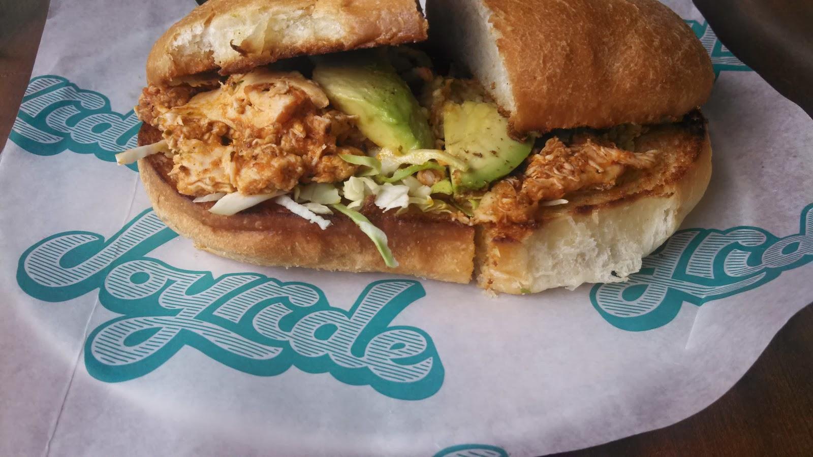 Chicken Tinga Torta (spicy chicken sandwich)