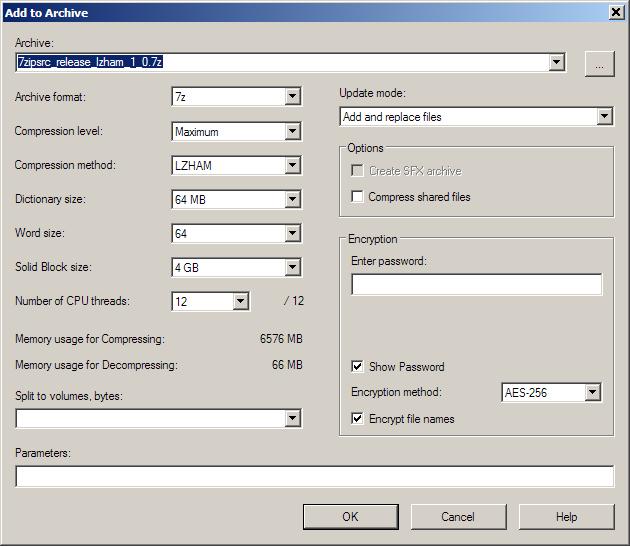 Rich Geldreich S Tech Blog Lzham 1 0 Integrated Into 7zip Command