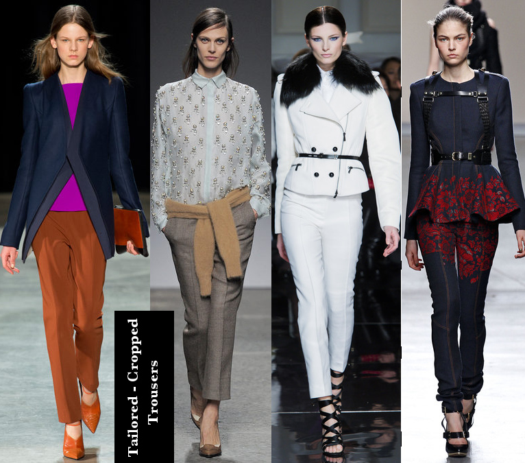 Women's Fall 2013/2014 Trends- Tailored cropped trousers