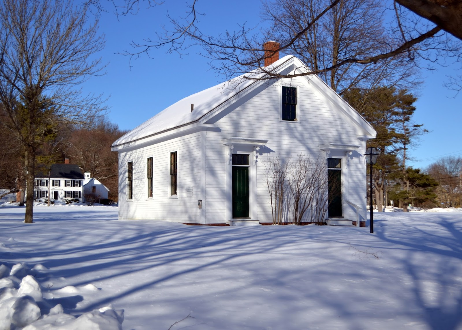 schoolhouse, one, room, green, newbury, massachusetts