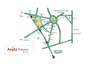 Avida Towers Vita Location Map