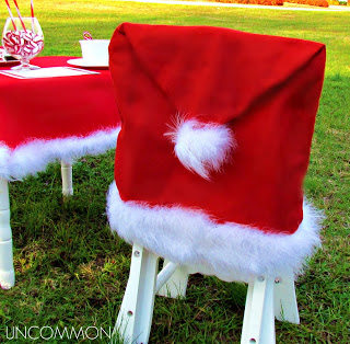 Santa Hat Chair Cover by Uncommon Designs