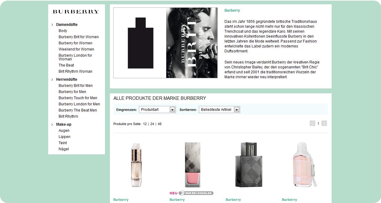 Burberry Make-up jetzt auch im Douglas.de Online Shop