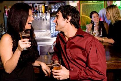 Flirting While In A Relationship - man flirting with woman