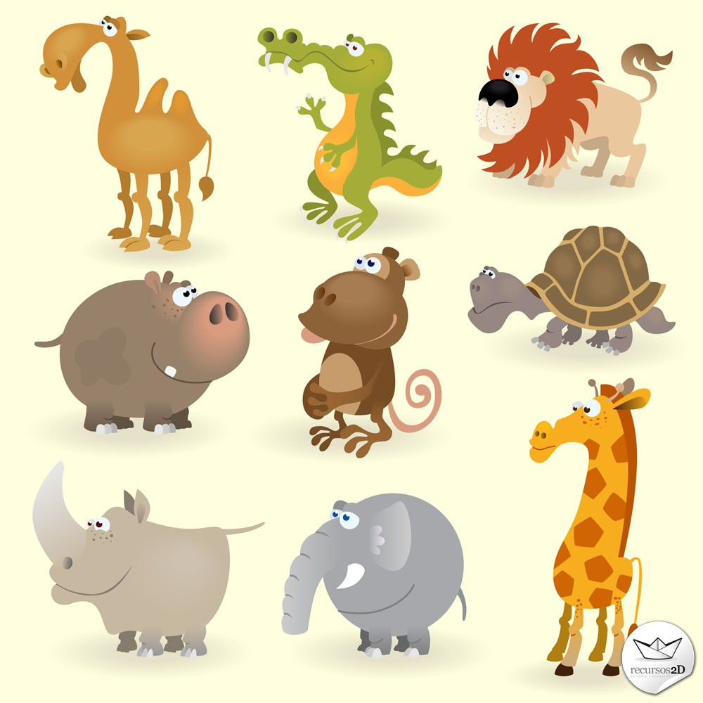 Caricaturas de animales en vector (Cartoon Vector Animals) | Recursos ...