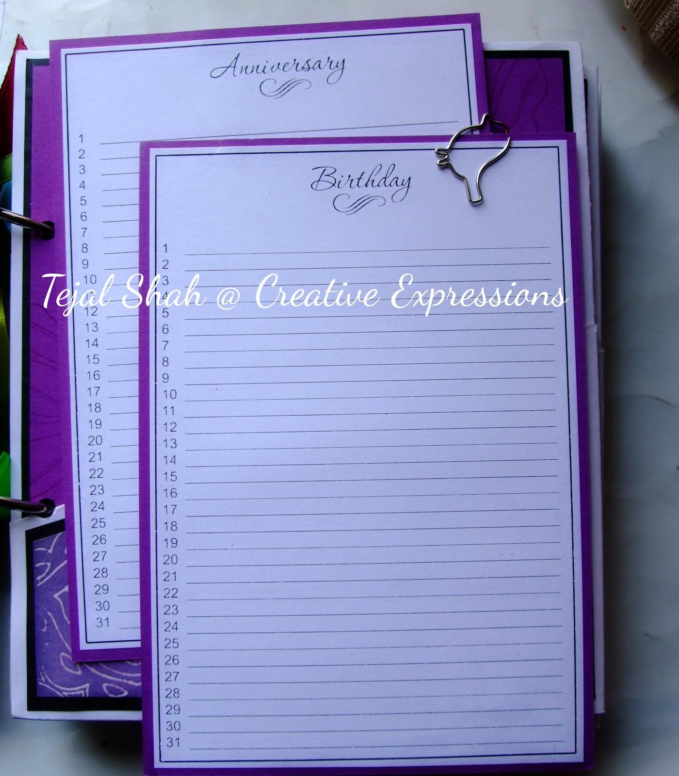 Creative Expressions Store: Birthday Anniversary Reminder