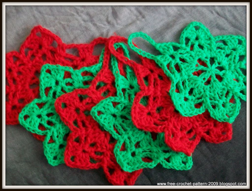 Free Patterns Crochet Xmas Ornaments : Girlies Crochet: Girlies 6-Point Star : Christmas Ornament