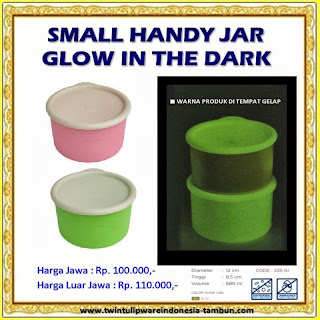 Small Handy Jar Glow In The Dark Tulipware 2013