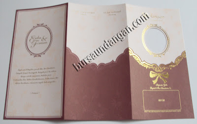 Kartu Undangan Pernikahan Elegant - Kode Erba 88138