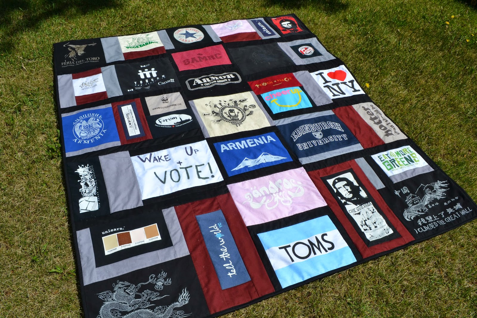 how to cut t shirts for a quilt