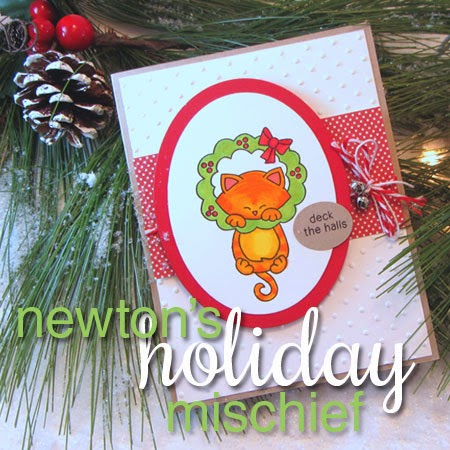 Newton's Holiday Mischief Stamp set from Newton's Nook Designs