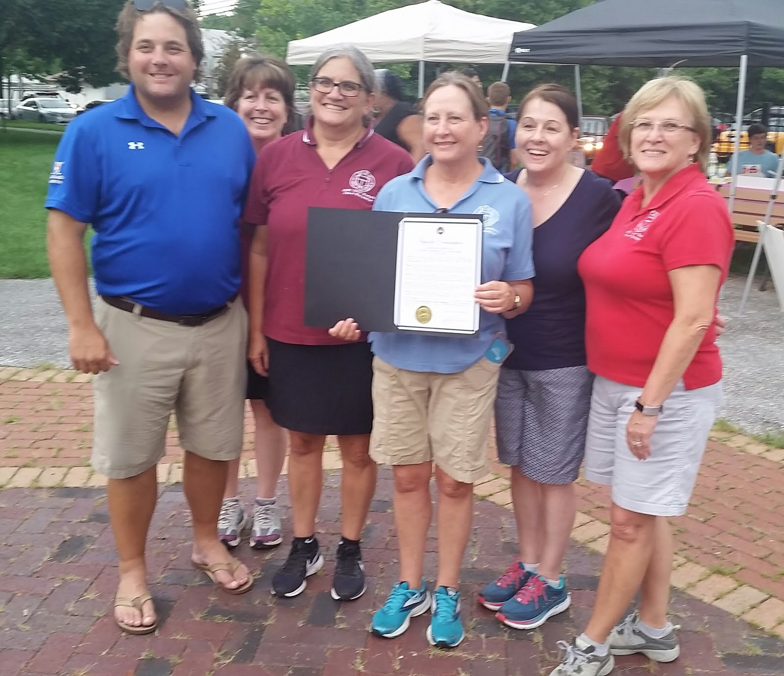 ben yingling presents a proclamation to the gfwc jr women s club of westminster